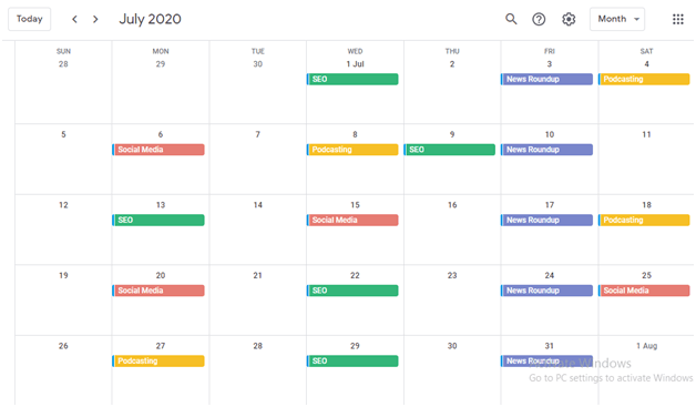 Using Google Calendar to Manage Your Content Marketing Efforts