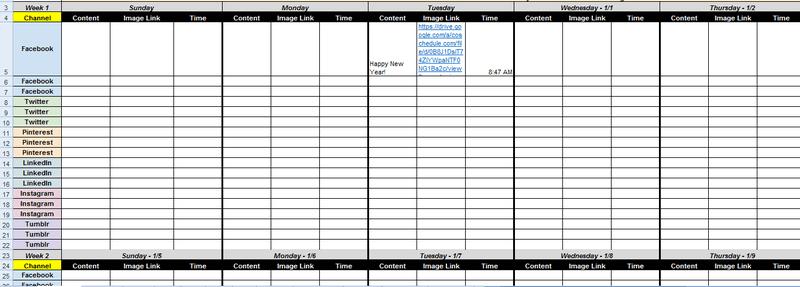 pdf content calendar template