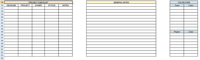 content planner sheet